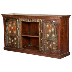 Nottingham Royal Reclaimed Wood TV Console Media Cabinet