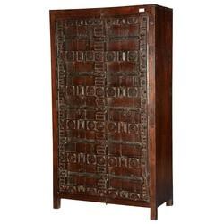 Dark Knight Reclaimed Wood Wardrobe Armoire Cabinet