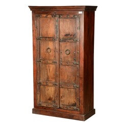 Rustic Gothic Traditions Reclaimed Wood Wardrobe Armoire Cabinet