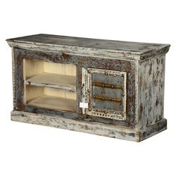 Winter Shadows Mango Wood Rustic TV Console Media Island
