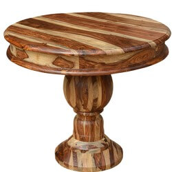 "Fallas Solid Solid Wood 35"" Round Pedestal Dining Table"