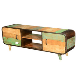 Wasatch Rustic Industrial Reclaimed Wood Media Console