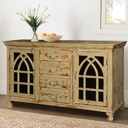 "Gothic Arches Grille Mango Wood 59"" Sideboard Buffet"
