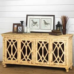 "Diamond Grille Mango Wood 71"" Standing Sideboard Buffet"