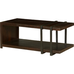 Modern Industrial Mango Wood & Iron TV Console Media Island