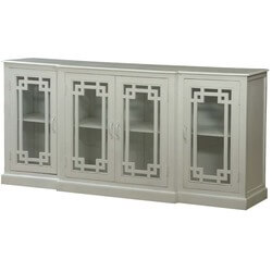 "White Rectangles Mango Wood 82"" Sideboard Cabinet"