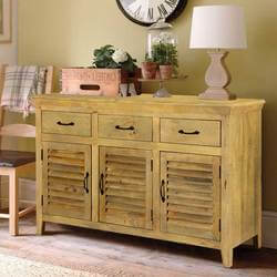 "Oklahoma Honey Mango Wood 55"" Standing Buffet Sideboard"