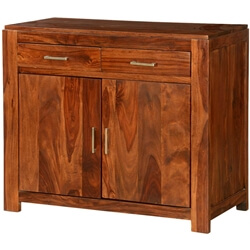 "Pioneer Rustic Solid Wood Freestanding 41"" Buffet Storage Cabinet"