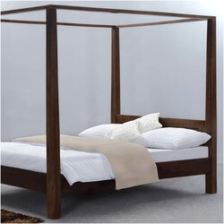 Modern Rustic Philadelphia Solid Wood Canopy Bed