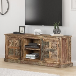 Morocco Two Door Reclaimed Wood Media Cabinet
