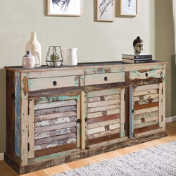 Sedona Reclaimed Wood Shutter Door Rustic Buffet
