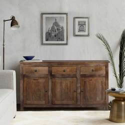 Williamsburg Solid Wood Three Door Sideboard
