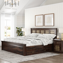 Diamond Empire Solid Wood Platform Captains Bed