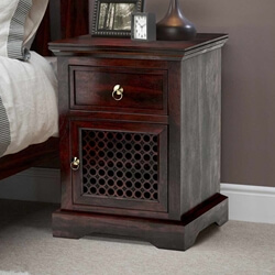 Madison Solid Wood Nightstand End Table Cabinet