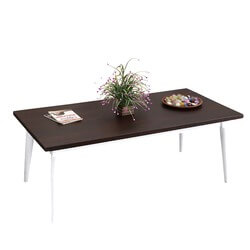 "Dark & Light Contrast Solid Wood 47"" Coffee Table"