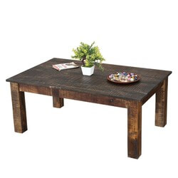 "Rustic & Real Mango Wood 43"" Long Livingroom Coffee Table"