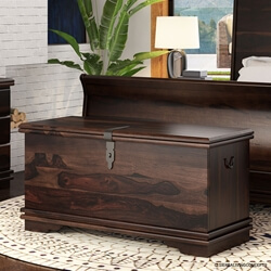 "Modern Pioneer Solid Wood 48"" Bedroom Trunk"