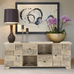 Reclaimed Wood Media Console Palazzo Furniture with 2-Door & 2-Drawers