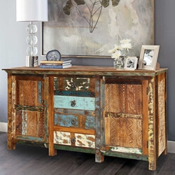 Reclaimed Wood 2 Door and 4 Drawer Sideboard