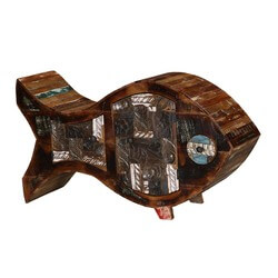 Lucky Fish Reclaimed Wood Novelty Cabinet