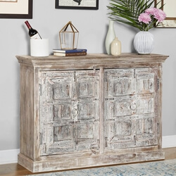 "Palazzo 55"" Light Brown Rustic Dining Sideboard Cabinet"