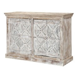 "Willamette 54"" Rustic Trestle Design 2-Door Buffet Storage Sideboard"