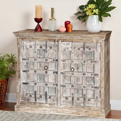 "Palazzo 55"" Rustic Panel 2-Door Buffet Sideboard Cabinet"