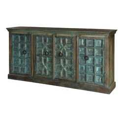 Blue Winter Gothic Mango & Reclaimed Wood Sideboard Cabinet