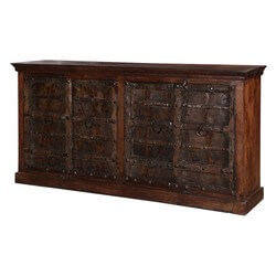 Gothic Gates Buffet Cabinet Sideboard Made From Mango & Reclaimed Wood