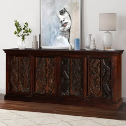 Dragon Vine Gothic Mango & Reclaimed Wood Sideboard Cabinet