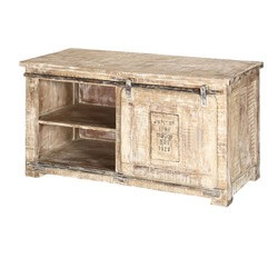 Jupiter Iron Works Sliding Door Single Drawer Accent Media Console