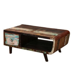 1950's Retro Reclaimed Wood TV Console Media Cabinet