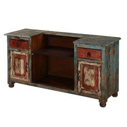 "Alabama Rustic 47"" Wide 2 door 2 drawer solid wood media console"