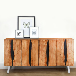 Saturn Acacia Wood 4-Drawer Sideboard Cabinet