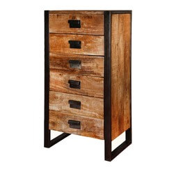 "Roxborough 47"" Rustic Industrial 6-Drawer Dresser Chest of Drawers"