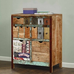 Phoenix Rustic Reclaimed Wood 13 Drawer Accent Dresser Chest