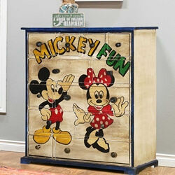 Mickey Fun Solid Mango Wood Accent Chest with Twelve Drawers