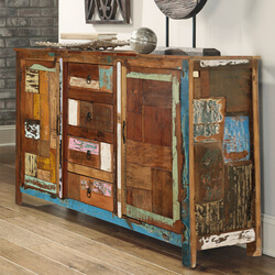 "Arizona 60"" Handcrafted Rustic Reclaimed Wood Accent Sideboard Cabinet"