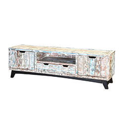 Tucson Handcrafted Two Drawer Reclaimed Wood Rustic TV Stand