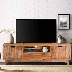 Augusta Handcrafted Two Drawer Solid Wood TV Media Cabinet