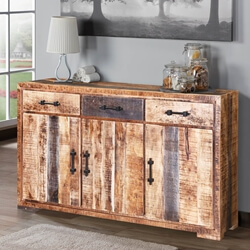 Shenandoah Three Drawer Solid Wood Rustic Buffet