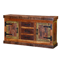 Pueblo Three-Drawer Reclaimed Wood Sideboard