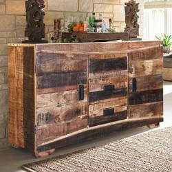 "Modern Frontier 57"" Rustic Mango Wood Free Standing Buffet Cabinet"