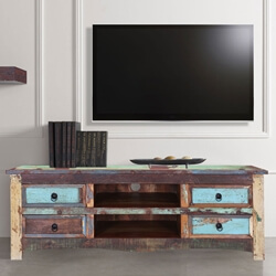 "Appalachia 55"" Four-Drawer Reclaimed Wood TV Media Console"