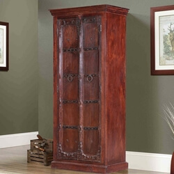 "Elizabethan Classic 71"" Reclaimed Wood Rustic Armoire"