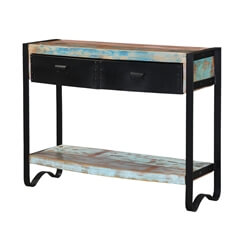 Flagstaff Handcrafted Reclaimed Wood & Iron Console Table