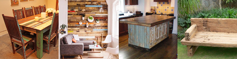 type of reclaimed wood furniture