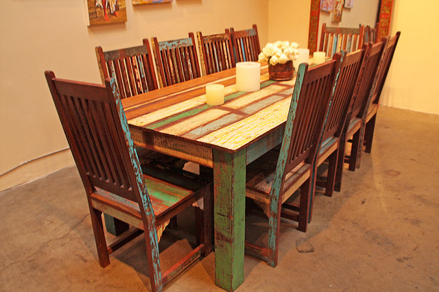 Awesome Reclaimed Wood Dining Set