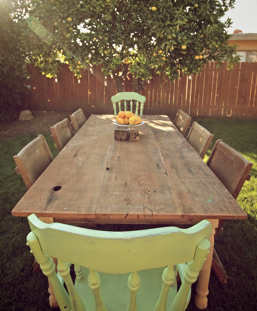 reclaimed wood garden furniture