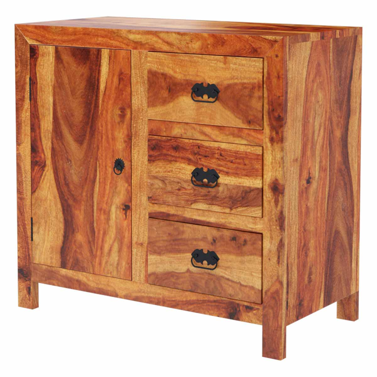 Appalachian Rustic 3 Drawer Kitchen Buffet Storage Cabinet